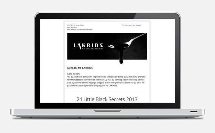 Vær blandt de første til at høre om bl.a nye produkter, events og generelle nyheder fra LAKRIDS - tilmeld dig vores nyhedsbrev her: http://lakrids.us5.list-manage2.com/subscribe?u=02bf138af38c214b2813c2d5f&id=8d033aaece   Vi udsender nyhedsbrevet hver 14. dag og du kan til enhver tid afmelde nyhedsbrevet.