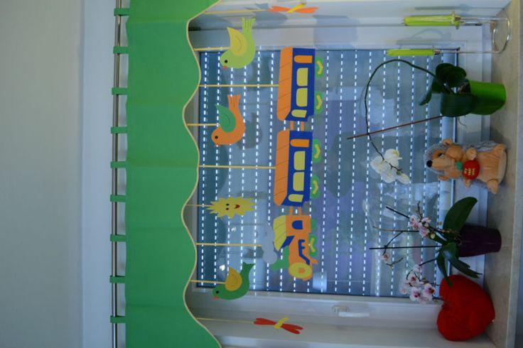 Vorhang Querbehang Fensterdeko Kinderzimmer Motiv 140 - 180cm Handarbeit
