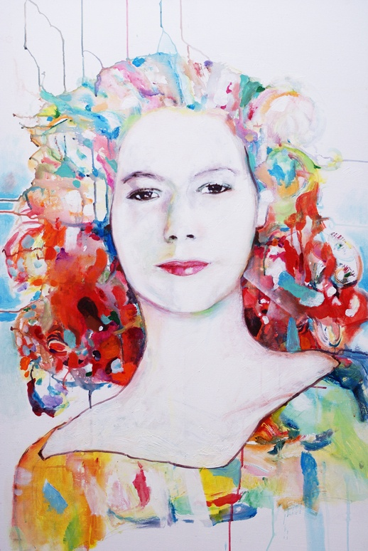 peggy's colours by ~pavalo on deviantART  the latest in a series of portraits, trying to change away from my usual style