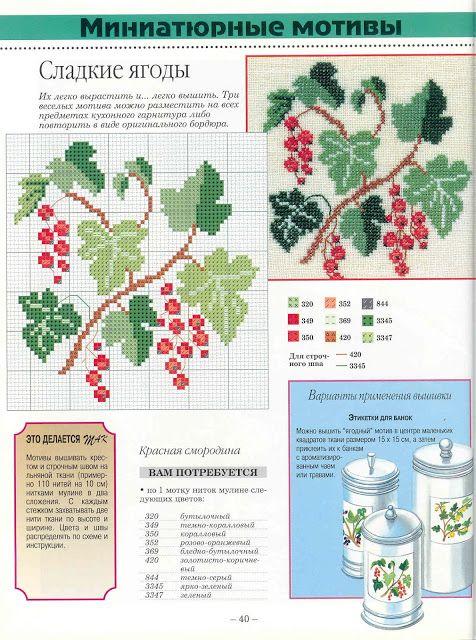 КЛАДОВАЯ РУКОДЕЛИЙ: Схемы вышивки: сочные фрукты и ягоды и овощи