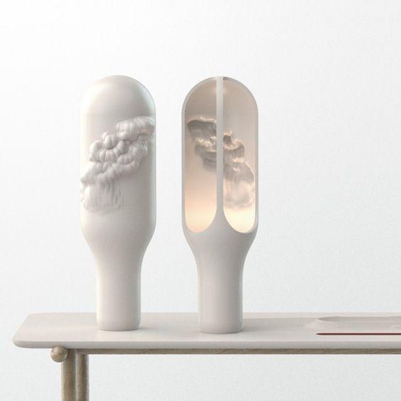 "Lampe ""The Cave"", Benjamin Graindorge, Moustache x Corian"