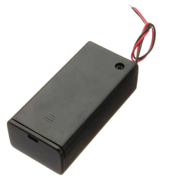 9V Battery Box Pack Holder With ON/OFF Power Switch Toggle Black 	Feature: 	Easy to remove cover and install battery 	Cover slides with screw 	Have OFF / ON switch 	Specification: 	Material: plastic 	Color: black 	Cable length: about 14.5cm 	Fitment: 	Fit for 9V batteries 	Package included: 	1...