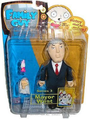 Family Guy Adam West Series 3 Action Figure by Mezco Toyz New in Package Fox TV Show