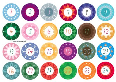 Meine Svenja advent calendar tag printable