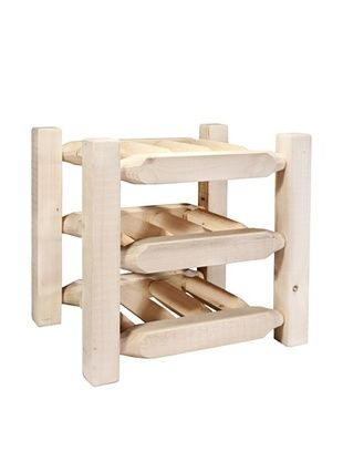 61% OFF Montana Woodworks Homestead Collection Countertop Wine Rack (Clear Lacquer Finish)