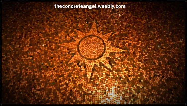 Penny floor. I want this on my greenhouse floor!