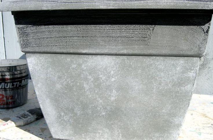 Best 25 stone planters ideas on pinterest planters for Painting concrete pots