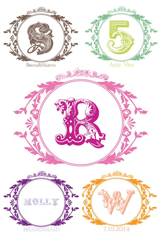 free printable vintage monogram--Awesome!! Just did it--pick your color, type your letter and date, click create, and wa-la! Instantly downloads to your download folder!