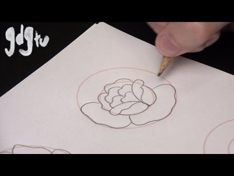 ▶ How to Draw Basic Traditional Rose Tattoo Designs by a Tattoo Aritist - YouTube
