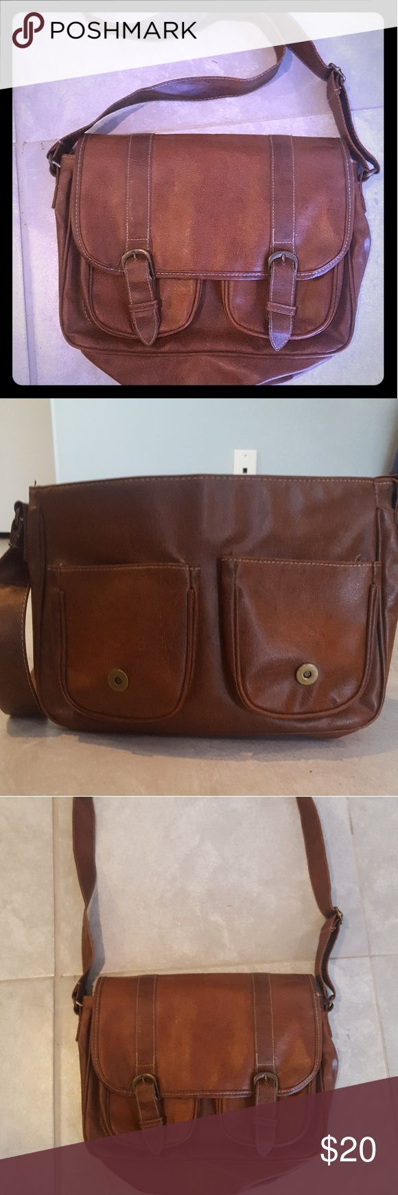 Brand New PiGi bag Never used over the shoulder, brown PiGi bag with multiple compartments. Perfect for small laptop or tablet. pigi Bags