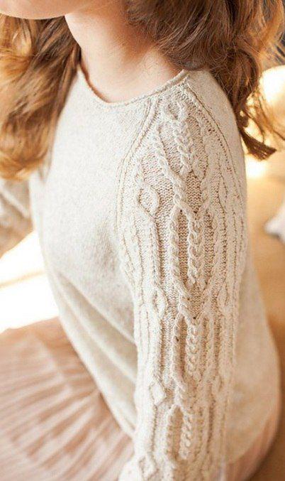 красивый пуловер с  регланом
