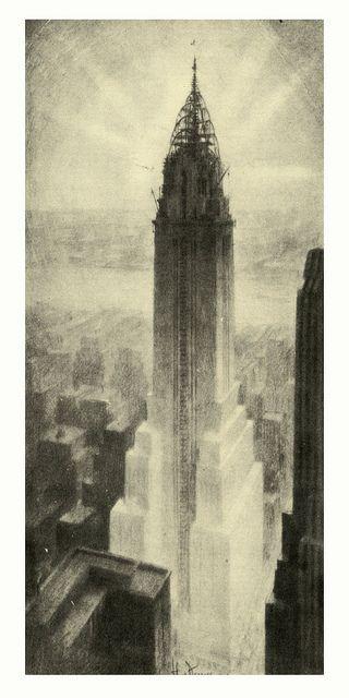 Hugh Ferriss, Chrysler Building sketch