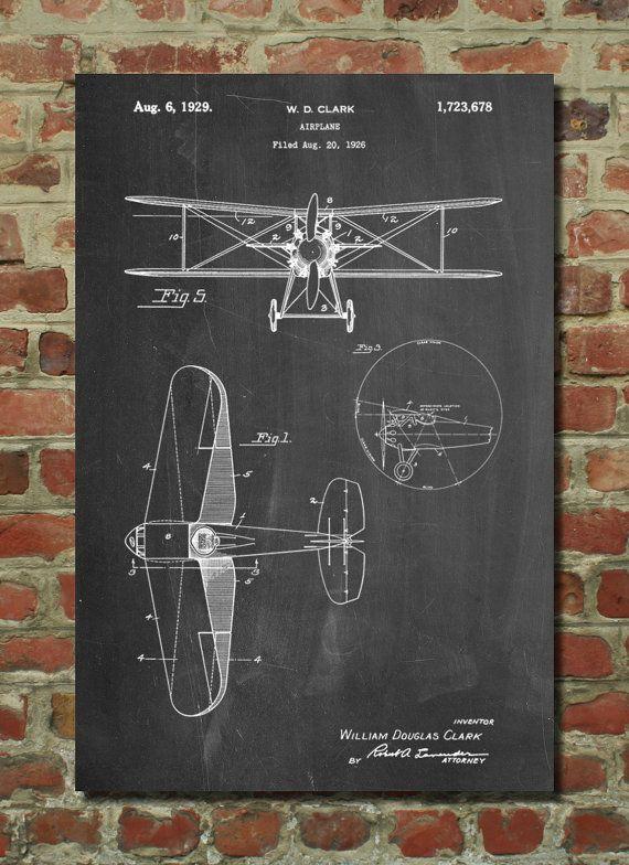 Décor d'avion, Art avion, avion Print, brevet avion, Aviation Decor, cadeaux Aviation, Aviation Art, Aviation Wall Art PP68