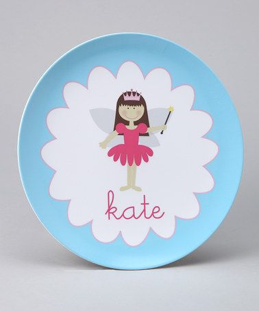 Take a look at this Blue Fairy Personalized Plate by Lima Bean Kids on #zulily today! Ellie? 13.99