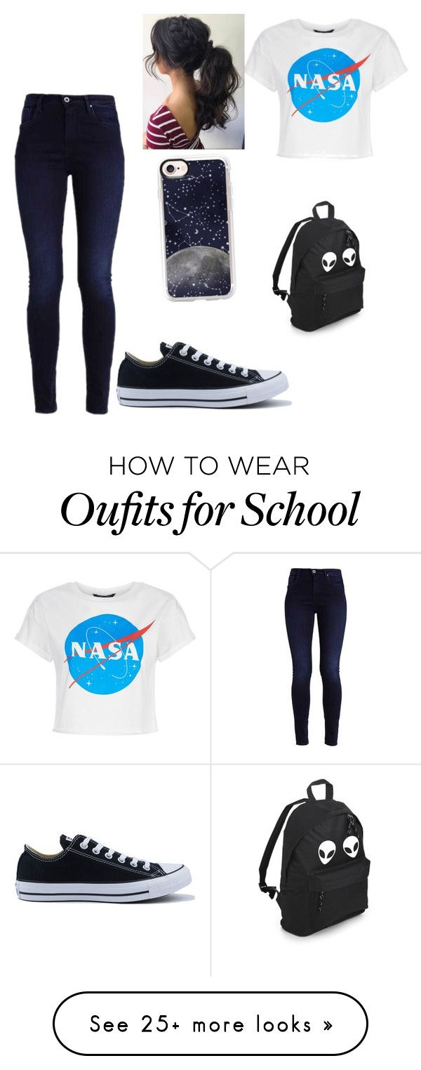 """Space casual"" by jnhester on Polyvore featuring Converse and Casetify"