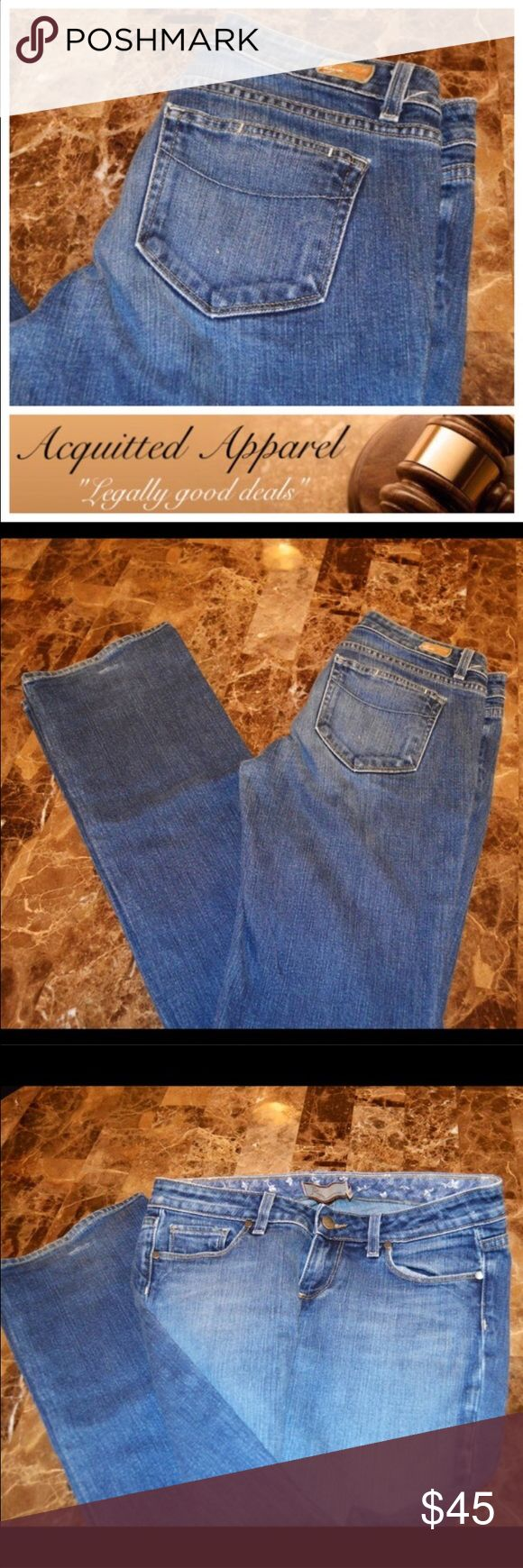 """Paige Jeans Benedict Canyon Straight Leg 34 inseam Paige Jeans Benedict Canyon Size 28 Excellent Condition Approx. 33.5"""" inseam Paige Jeans Jeans Straight Leg"""