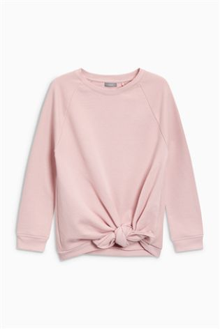 Pink Knot Front Sweater (3-16yrs)
