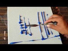 Demonstration of abstract painting / City landscape / Satisfaction / Acrylic colors / project 365 days / day No. 0290 – YouTube