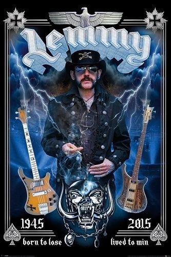 Poster LEMMY - Commemorative - Posters - Rock A Gogo - www.rockagogo.com