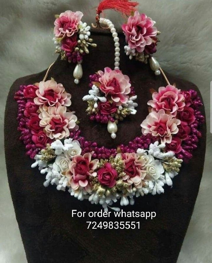 floraljewellery Flower jewellery for haldi, Wedding