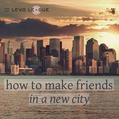 How to Make Friends in a New City. Not really in a 'new' city...but I'm actually in the city now?