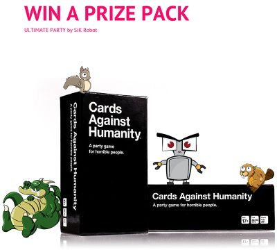 Win EVERY ITEM in the Cards Against Humanity Store courtesy of SiK Robot, an iOS App coming soon!
