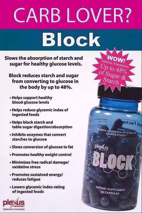 Plexus Block will block up to 48% of sugars and starch/carbs consumed 30 to 45 minutes after you take it! With the holidays coming this is a MUST! www.shopmyplexus.com/jennifermccraw
