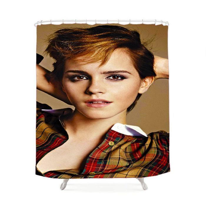 Emma Watson Short Hair Shower Curtain