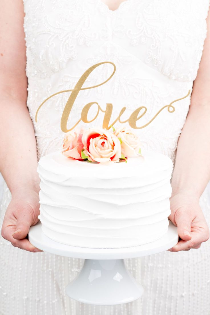 Love Wedding Cake Topper by BetterOffWed on Etsy https://www.etsy.com/listing/182538388/love-wedding-cake-topper