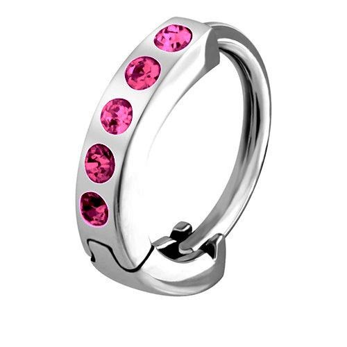 Crystal Gem In Rose Belly Huggie Belly Ring  Shop Huggy Navel Rings - Belly Button Rings Australia – bellylicious