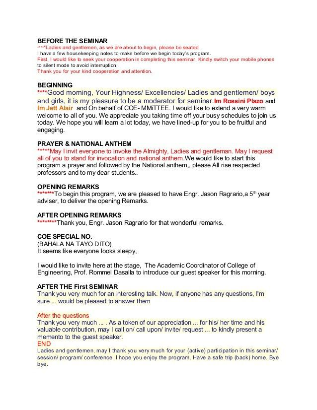 Sample Emcee Script For Seminar Wedding Script Wedding Mc Mc Wedding Script