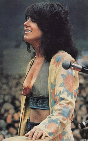"1969 Gracie Slick, of Jefferson Airplane at Woodstock. She sang ""White Rabbit"" and it changed the face of 1970s music. WFH."