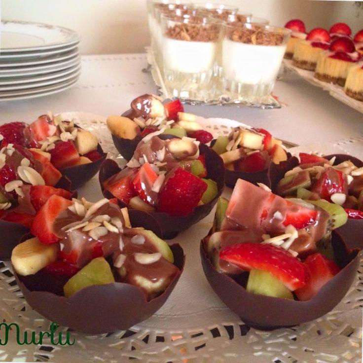 çikolata çanağı nasıl yapılır?,çikolata çanakları,meyva salatalı çikolata çanakları,balondan çikolata çanağı nasıl yapılır?