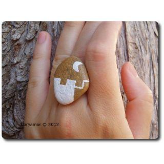 handmade stone ring