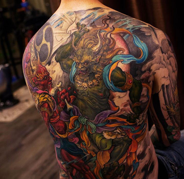 1000 ideas about asian tattoos on pinterest geisha for Atomic tattoo piercing prices