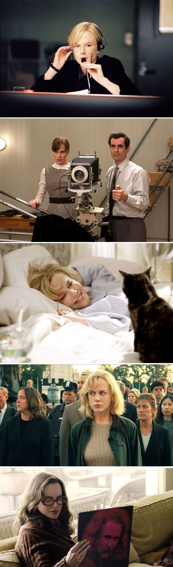 From top: The Interpreter (2005) Fur (2006) Bewitched (2005) The Invasion (2007) Margot at the Wedding (2007).