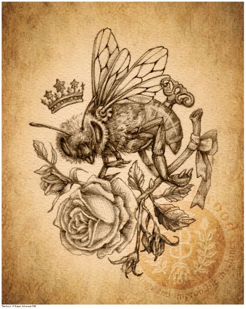 """Q: """"My boyfriend and i say 'you're the bees knees' to each other all the time..its our little sign of affection. this would make a neat tattoo as a reminder of that."""""""