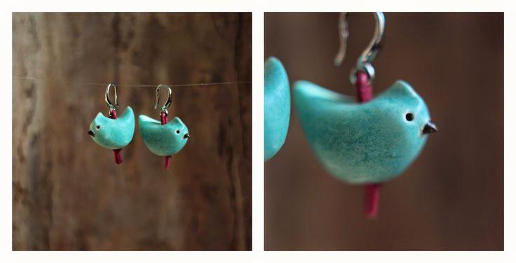 Karolina-G / kolczyki. ceramika / earrings. ceramic /// http://karolina-g.blogspot.com/2014/10/cwir-cwir-cwir.html
