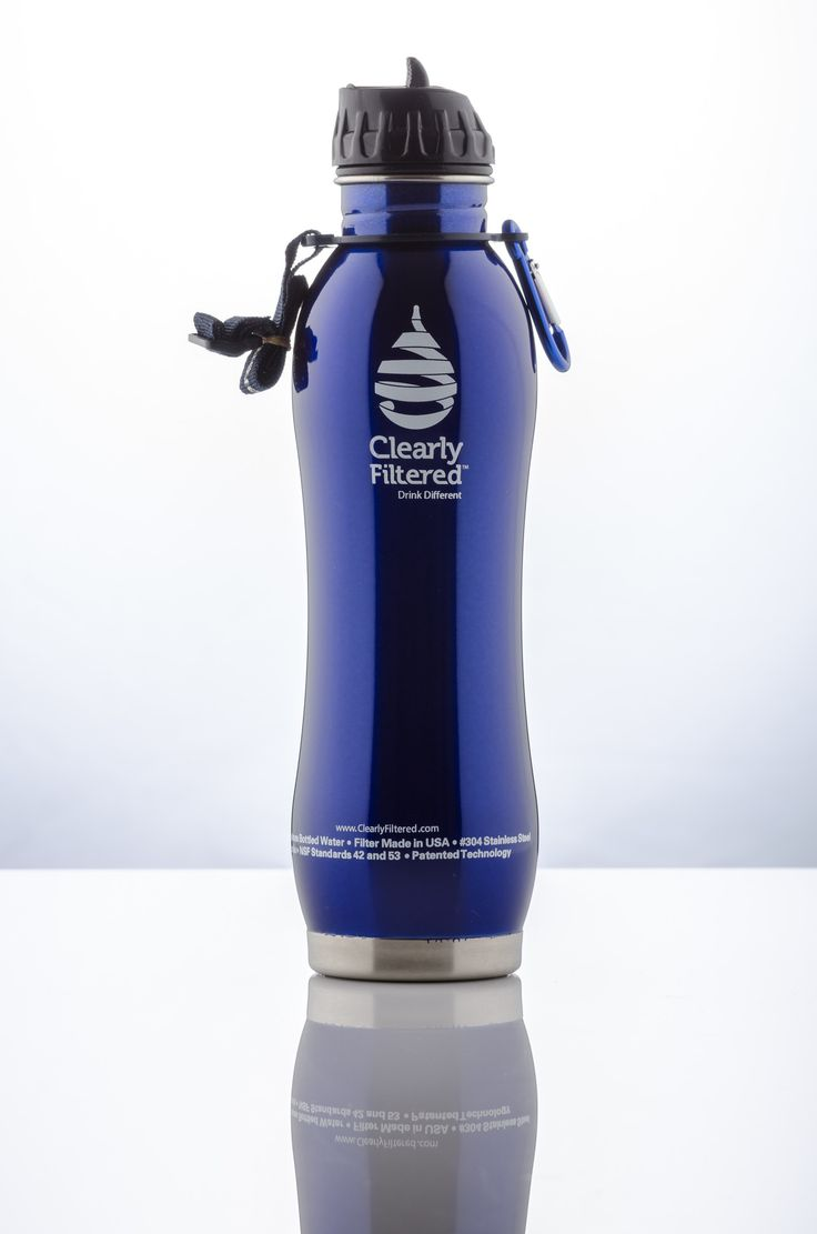 Watergeeks filtered water bottle review the green living guide - Clearly Filtered Stainless Steel Filtered Water Bottle