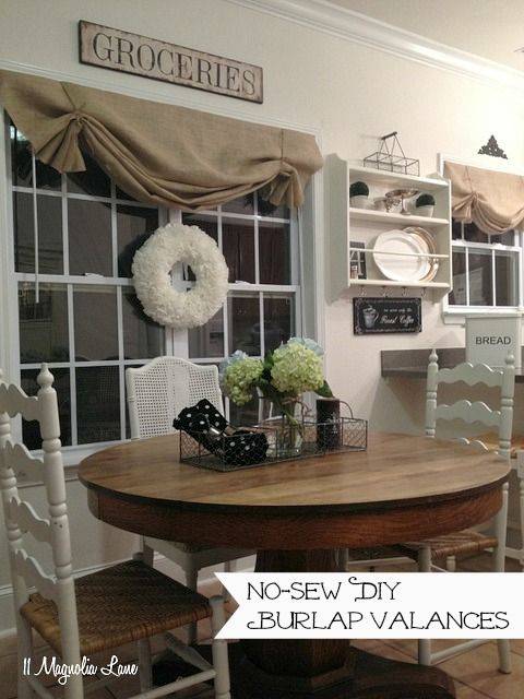 How to Make a No-Sew DIY Window Valance From Canvas Dropcloths :: Hometalk