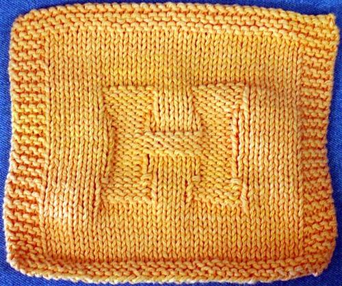 Alphabet Dishcloth Knitting Patterns Choice Image Handicraft Ideas