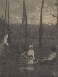 """""""Serbonne,"""" 1901, Gertrude Kasebier. University of Delaware Collection, gift of Mason E. Turner Jr, 1994. Featured in March 2013 article, """"Gertrude Kasebier: Two Exhibitions In Delaware."""""""