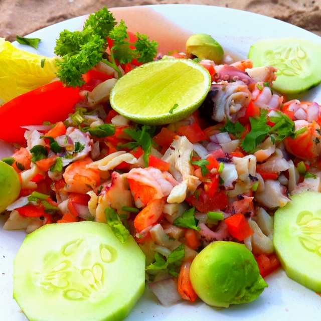 Conch, Octopus, and Shrimp Ceviche
