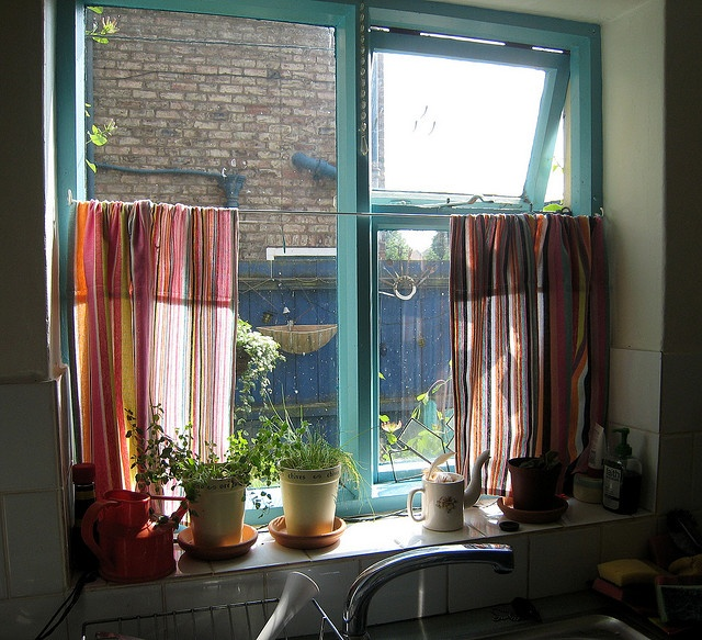 Tea Towel Curtains. Kitchen ...