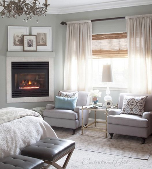 Cottage Master Bedroom With Sitting Area Room Furniture O ...