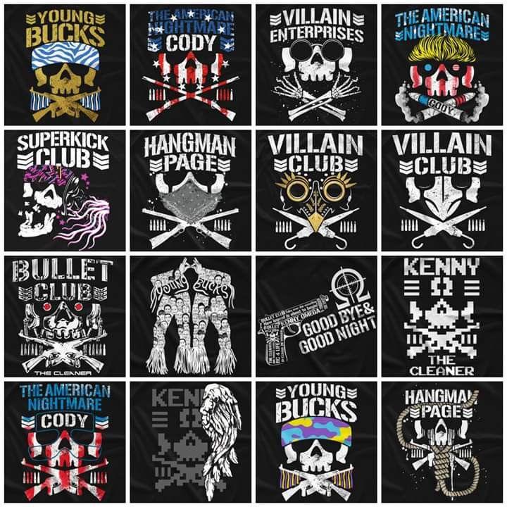 Club Life Bullet Club Logo Njpw Wrestling Posters