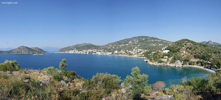 #Tolo and ancient #Asini beach viewed from the hill of Ancient #Asini in the #Peloponnese - #Greece