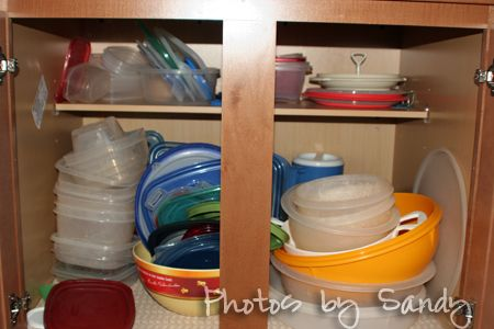 Organize Those plastic food containers!