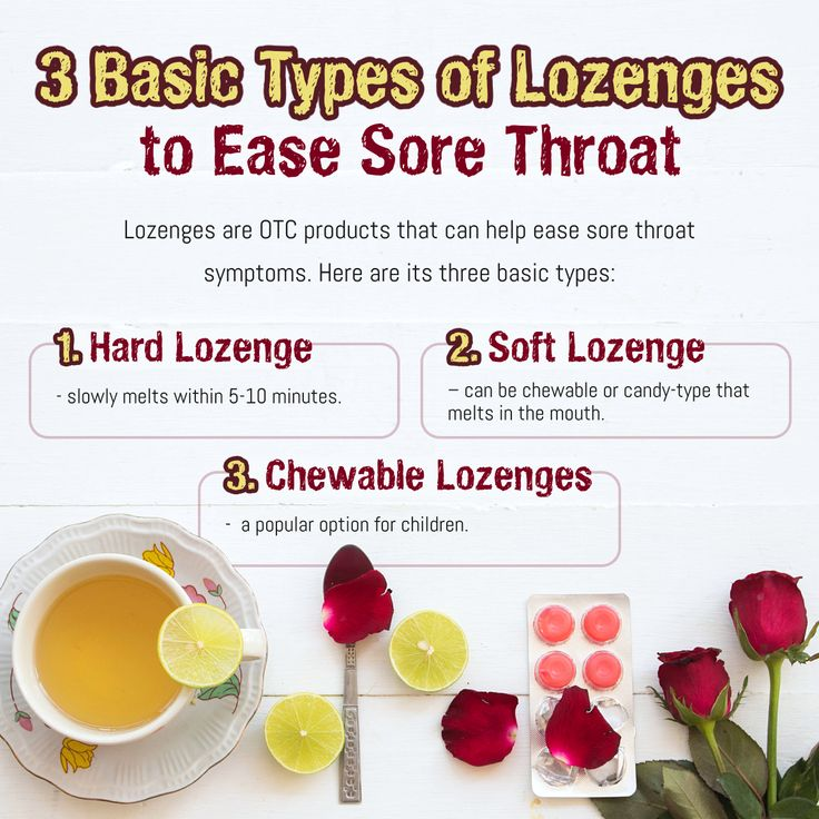 3 basic types of lozenges to ease sore throat