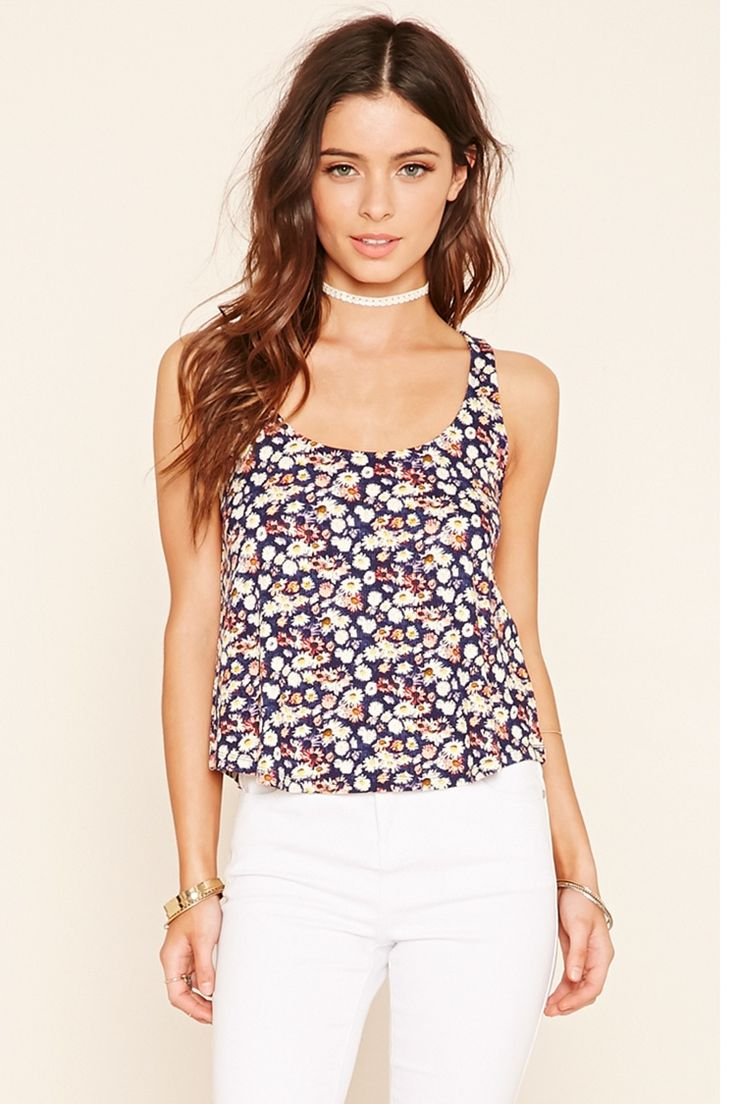 Floral Strappy-Back Top
